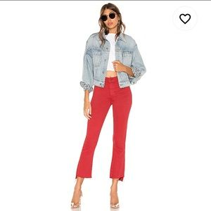 NWT Mother Inside Crop Step Fray Jeans
